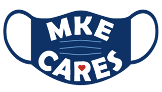 MKE Cares logo face mask