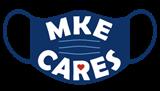 MKE Cares logo face mask