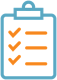 Clipboard and checklist icon