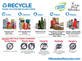A thumbnail image and link to the English version of the materials guide accepted for recycling