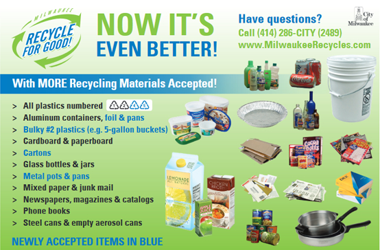 Materials Accepted for Recycling