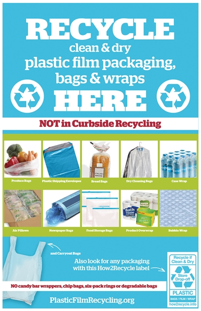 photo of recyclable film that can be taken to retail drop off locations