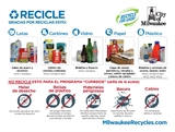 A thumbnail image and link to the Spanish version of the materials guide accepted for recycling