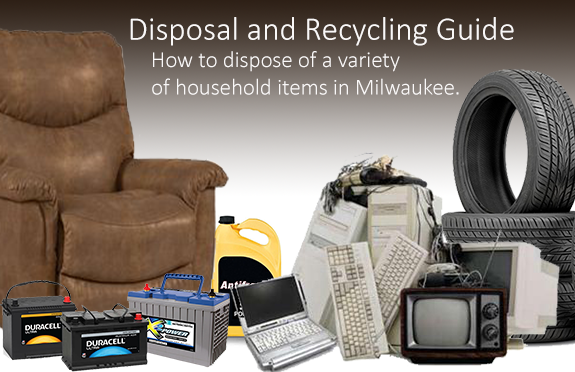 Photo of variety of items that need to be disposed of