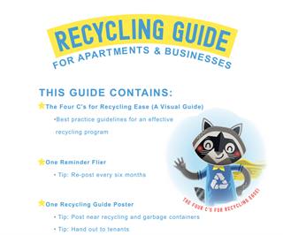 Image of front cover of Recycling Guide for Apartments and Businesses
