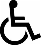 An image of the International Symbol of Accessibility