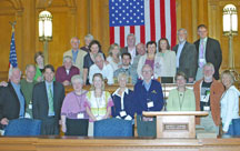 A group photo of the Sister City Signing Ceremony with Galway, Ireland at City Hall, March 24, 2009.
