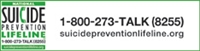 suicide prevention lifeline logo with 1-800-273-8255 press 1