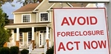 "Photo of a home with the message ""Avoid Foreclosure Act Now"""